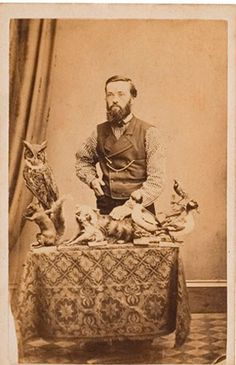 Old Taxidermy Photo