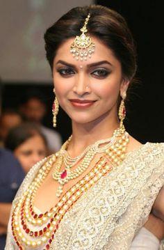 Elegant Deepika Padukone - Indian Bridal Jewellery Inspiration