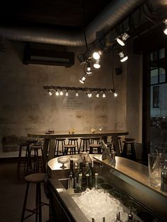 Milan cocktail bar and pizzeria Dry ditches soggy vintage opulence in favour of a spartan look... http://www.we-heart.com/2015/02/23/dry-milano/