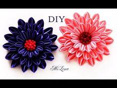 Новый цветок канзаши / Мастер-класс / NEW Kanzashi flower / DIY Kanzashi - YouTube