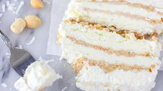Coconut-Lime Ice Cream Loaf Recipe