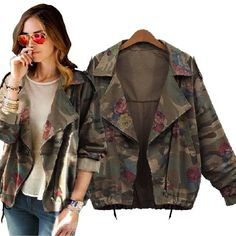 Floral Camouflage Denim Jacket