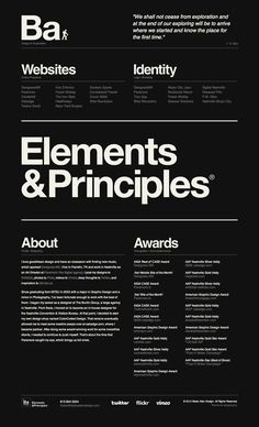 I can't get tired looking at beautiful and simple compositions. More and more the web is bringing back the classic principles of good graphic design with attention to typography and grid systems.