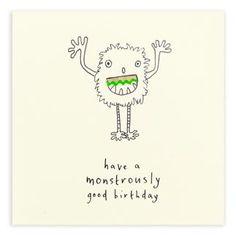Birthday Monster Pencil Shavings Card
