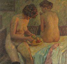 Harold Bengen (1879-1962), Nach dem Bade / After the Bath, ca.1900.  oil on canvas, 114 x 118 cm
