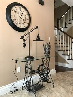 Perfect treadle machine for our foyer