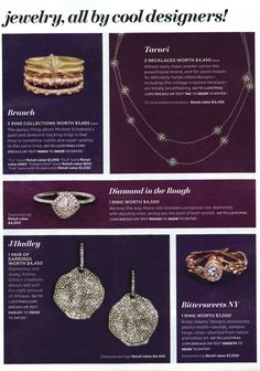 Our Grace rough diamond engagement ring is featured in Lucky Magazine.