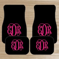 Personalized Car Mats  Monogrammed Car Mats  by TheDreamyDaisy