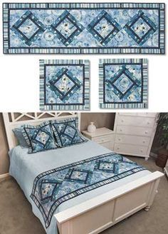 Replace your winter blankets with a lovely bed runner to decorate your bed during warmer seasons Bed Runner, Table Topper Patterns, Table Toppers, Table Runner And Placemats, Quilted Table Runners, Scrapbook Bebe, Skinny Quilts, Bed Scarf, Bed Table