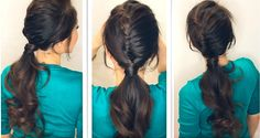 How to partly-French, fishtail braid, fancy ponytail   Hairstyle tutorial