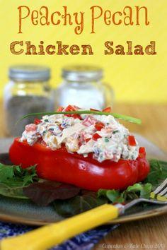Peachy Pecan Chicken Salad | cupcakesandkalechips.com #glutenfree @Chobani #greekyogurt #chickensalad