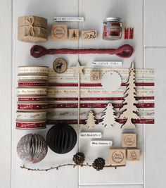 East of India Christmas ribbons, baubles, tags and stamps!