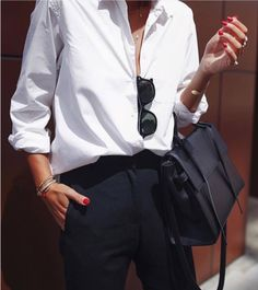 Best How To Wear Spring White Shirts Ideas Business Outfit Damen, Business Outfits, Office Outfits, Business Casual, White Shirt Outfits, White Shirts, White Blazers, Casual Look, Casual Chic