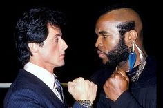 See Sylvester Stallone Punch Pose with Other Famous Stars Through the Years Rocky 1976, Rocky 3, Mr T, Special Pictures, Retro Pop, Famous Stars, Sylvester Stallone, The A Team, Movie Tv