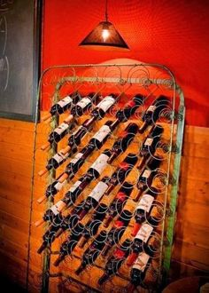 You probably could make this wine rack for free!