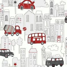 Arthouse Motor Mania Wallpaper - Red, Black at Homebase -- Be inspired and make your house a home. Buy now.