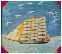 Alfred Wallis(1855 – 1942). Untitled 1928-30, Oil on Cardboard