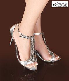 c88e0126b5 Pos, Kittens, Kitten Heels, Seasons, Classy, Sandals, Silver, Fashion,  Slide Sandals