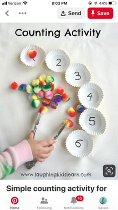 Here is a simple counting activity for children, especially preschoolers. Simple to set up it can suit individual needs and develops fine motor skills. activities for preschoolers Simple counting activity for children - Laughing Kids Learn Motor Skills Activities, Preschool Learning Activities, Fun Learning, Toddler Activities, Fine Motor Activities For Kids, Toddler Counting, Counting Activities For Preschoolers, Fine Motor Skills, Numeracy Activities