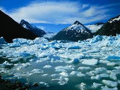 Icebergs in Portage Lake Portage Lakes, Indie Music, Photographic Prints, Arctic, Mount Everest, Art Prints, Mountains, Islands, Poster
