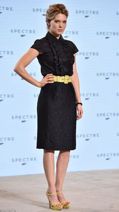 Femme fatale: Lea Seydoux was announced as the latest Bond girl in October this year playi...