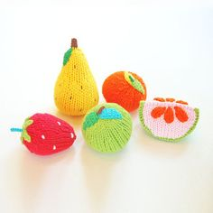 fruit rattles set of 5
