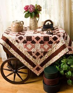 Country Quilt...prim tea cart.