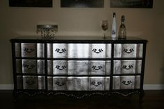 French Provincial Silver Leaf Dresser