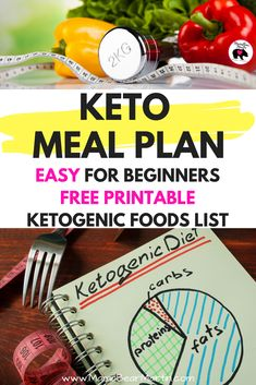 Easy Keto Meal Plan for beginners with free printable Ketogenic food list. Simple, easy, cheap Keto Diet meals for on the go, kids, and family. | www.MamaBearMartin.com