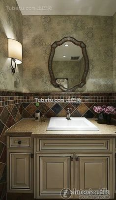 American-style country bathroom washbasin
