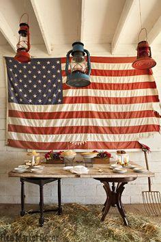 Celebrate a Vintage 4th of July with Flea Market Finds | Flea Market Decor
