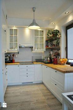 New kitchen small shelves countertops ideas Kitchen Room Design, Kitchen Sets, Ikea Kitchen, Home Decor Kitchen, Interior Design Kitchen, Country Kitchen, Home Kitchens, Kitchen Small, Galley Kitchen Design
