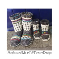 Ravelry: Fair Isle Slipper-Boots for Adults pattern by Ingunn Santini €5.00 EUR about $5.83