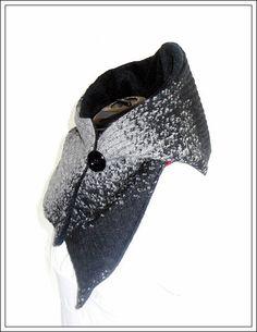 KS-001 Kapuzenschal - Wollstoff kariert mit Fleece - StoffAkzente Taschen und Accessoires