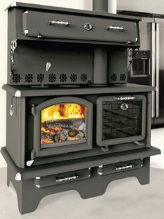 Roby Cuisiniere Wood Cookstove at Obadiah's Woodstoves. Roby Cuisiniere Wood Cookstove at Obadiah's Woodstoves. Wood Burning Cook Stove, Wood Stove Cooking, Kitchen Stove, Old Stove, Vintage Stoves, Retro Stoves, Antique Stove, Stove Fireplace, Wood Burner