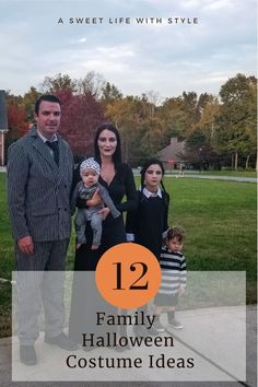 Family Costume Ideas for Halloween • A Sweet Life with Style Harry Potter Family Costume, Family Halloween Costumes, Baby Costumes, Baby First Halloween Costume, Beetlejuice Costume, Nightmare Before Christmas Halloween, Bonding Activities, Black Spray Paint, Christmas Music
