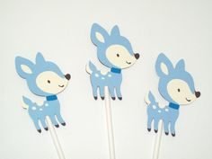 A personal favorite from my Etsy shop https://www.etsy.com/listing/240627783/boy-fawnwoodland-cupcake-toppers-boy
