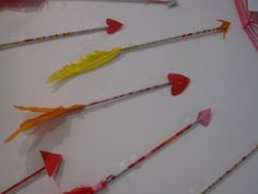 making arrows for valentines!