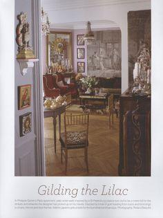 L'appartement de Philippe Goron à Paris . The world of interiors Novembre 2013 . Photo Roland Beaufre . roland-beaufre.book.fr