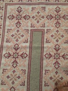 Cross Stitch Embroidery, Embroidery Patterns, Cross Stitch Patterns, Filet Crochet Charts, Bargello, Alphabet, Bohemian Rug, Projects To Try, Rugs