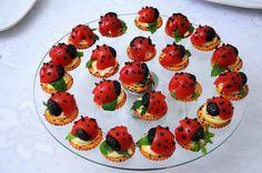 Ladybug canapes.
