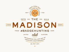 Typography  #badgehunting Clubs Unite! | Allan Peters Blog