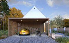 DOM.PL™ - Projekt domu DZW Odważny 2 CE - DOM DW1-90 - gotowy koszt budowy Exterior Cladding, Good House, Modern House Design, Home Fashion, Gazebo, New Homes, Cottage, Outdoor Structures, House Styles