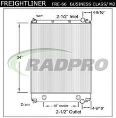 FR76OC, 05-25340-011, 05-25424-009, 0525340011, 0525424009, 239087, 9000-50, 900050, 9050, A05-25424-009, A0525424009, BHTR6069100, BHTX5435001, R6069100, R6374001, S9050, X5435001, Freightliner, Radiator