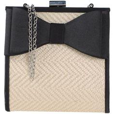 Marina Galanti Handbag (48 BAM) ❤ liked on Polyvore featuring bags, handbags, beige, print purse, pattern handbag, pink bag, print bags and two tone purse