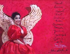 Teresa Berganza. Retrato al óleo de María Silvestre.