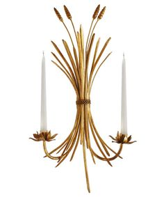Wheat Sheaf Wall Sconce, Candle Holder – High Street Market