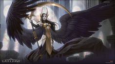 mtg-realm:   Magic the Gathering - Angel of Orzhov• Angel of Despair, Guidpact Rare, illustrated by Todd Lockwood• Deathpact Angel, Gatecrash Mythic Rare, illustrated by Jason ChanRavnica flavour -Angels are rare among the Orzhov. Angels are traditionally manifestations of faith and community, and so most angels are loath to associate with the guild of wealth and greed. But occasionally an angel becomes disillusioned by the simplistic principles and military strictures of the Boros and…