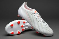 adidas Football Boots - adidas adizero F50 TRX FG Leather - Firm Ground - Soccer Cleats - Running White-Running White-Infrared