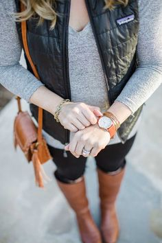 Patagonia Vest, Tory Burch Boots, Casual Outfit, Fall Outfit, Winter Outfit